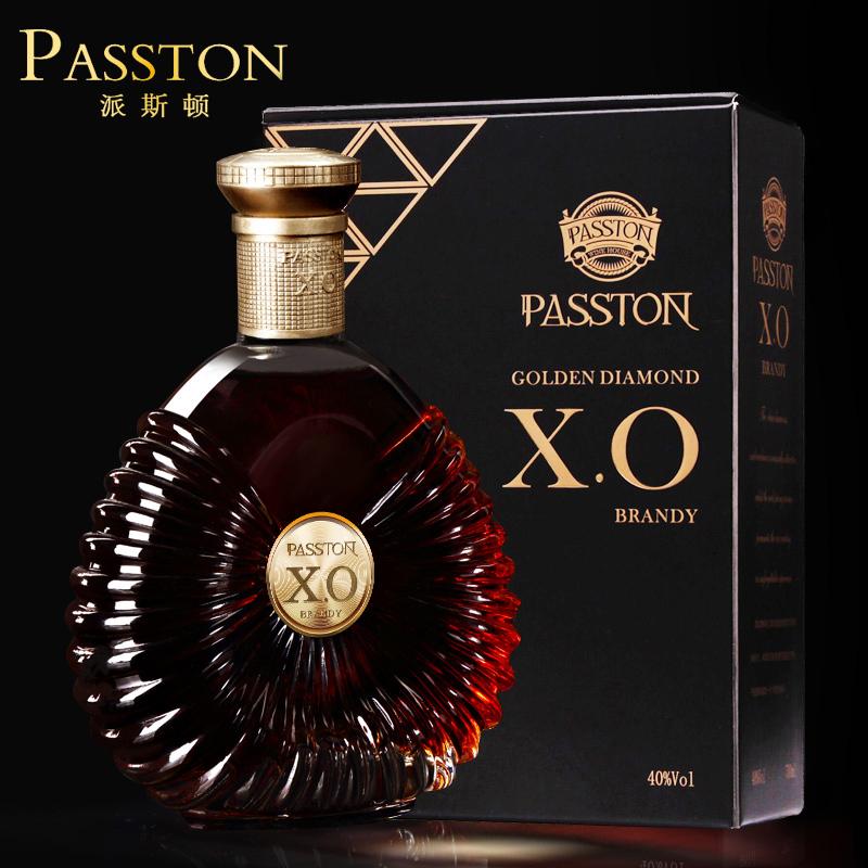 派斯顿金钻XO白兰地酒40度brandy洋酒礼盒套装送礼婚姻烈酒