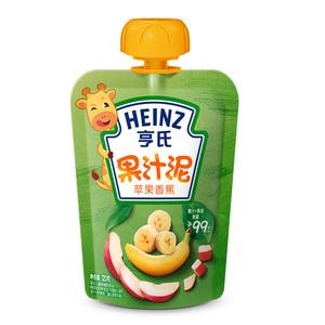 亨氏果泥 樂維滋果汁泥  蘋果香蕉120g/袋 寶寶吸吸泥輔食泥