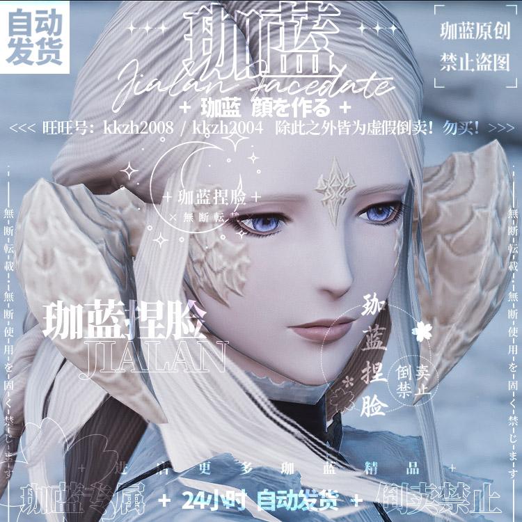 【珈藍】最終幻想14 F 14の顔データを握るオウ族ドラゴン娘白龍蓮心