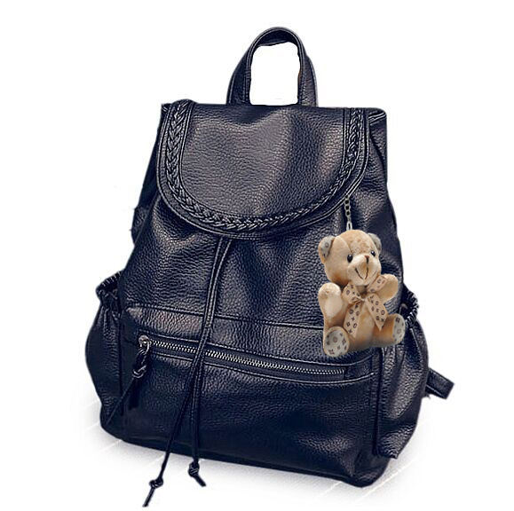 包包2016 背包女雙肩包女 pu百搭學院風書包大包女包旅行包