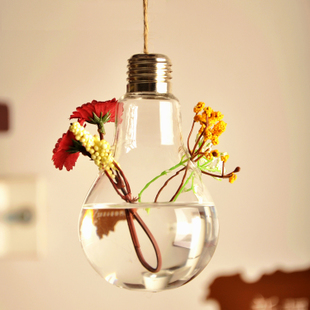 mxmade Creative bulb shaped hanging vase Continental hydroponic glass vase home fashion accessories ornaments