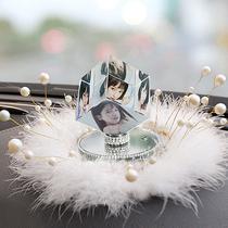 车内装饰用品大全水晶高档大气女士车载饰品个性定制照片汽车摆件