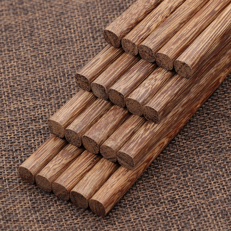 Natural pure chicken wing wooden chopsticks household lacquerless and waxless wood fast wood solid wood tableware 10 pairs of family suit bamboo wood