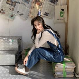 最小的海 牛仔背带裤女韩版宽松显瘦连体裤2020新款时尚洋气减龄