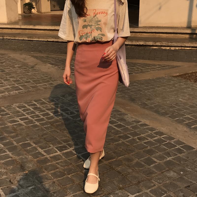 最小的海 韩版温柔百搭字母印花套头短袖T恤女ins潮夏季宽松上衣