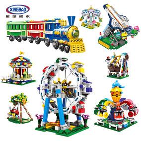 星堡儿童游乐场系列小颗粒飞机玩具