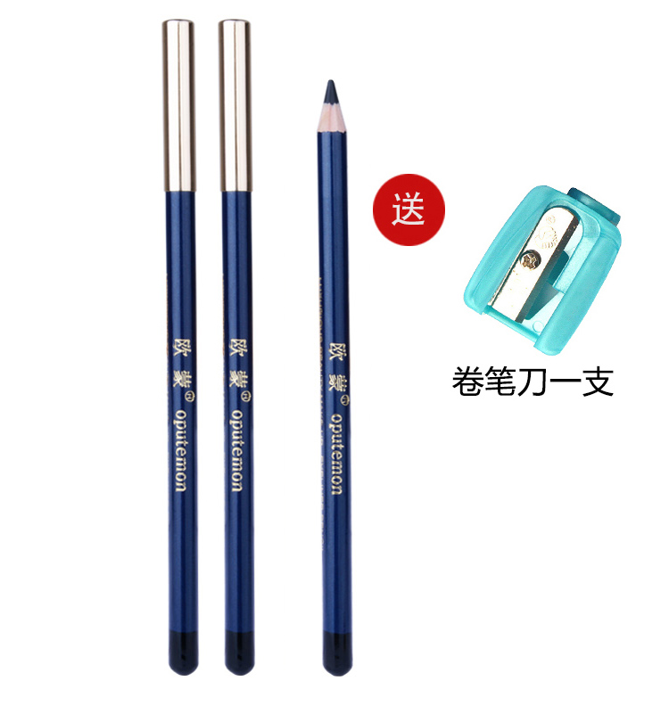 A black pencil eye liner with long eyeliner, which is durable and easy to color.