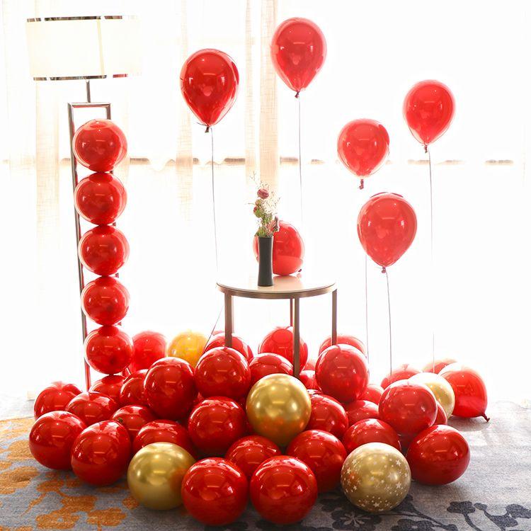 网红浪漫新婚房场景布置结婚礼装饰水晶红气球生日派对求婚庆用品