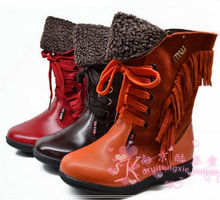 Counters authentic MingLu winter with child boots boots cowhide boots in 26-31 code 24617 special moves