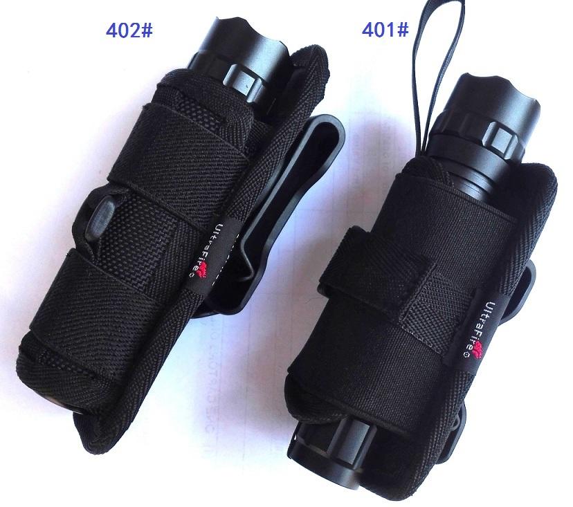 Бесплатная доставка по китаю оригинал Комплект фонарика UltraFire 401/402 фонарик 360 градусов вращающийся зажим для талии свободная рука