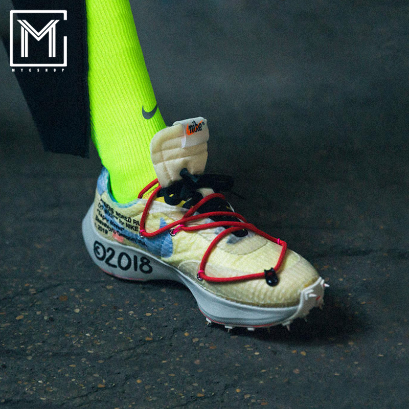 Nike Waffle RaceX Off-White OW聯名刺釘跑鞋CD8178-001-400-700