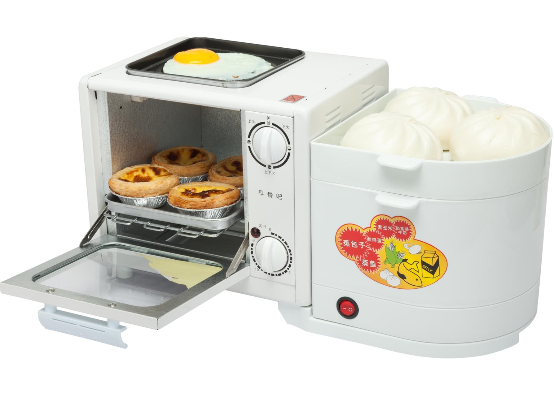 早餐机神器家用多功能四合一早餐吧烤箱煎蛋蒸笼煮蛋器一体早餐机