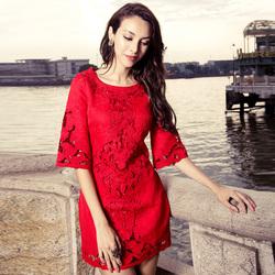 敬酒服新娘结婚礼服裙宴会气质秋冬新款2021年女装大码红色连衣裙