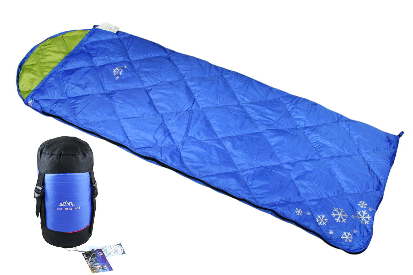 LMR征途/雪山蝠信封式羽绒睡袋含绒量90%白鸭绒400克直销包邮春秋