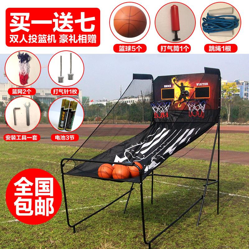 Бесплатная доставка двойной электронный автоматическая запомнить филиал в корзину машинально в корзину полка для взрослых ребенок сложить баскетбол в корзину игровой автомат