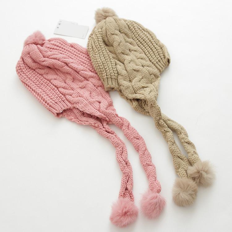 Внешней торговли Детская одежда девушки длинные косички и ношение шапочки для детей дети детские шапки