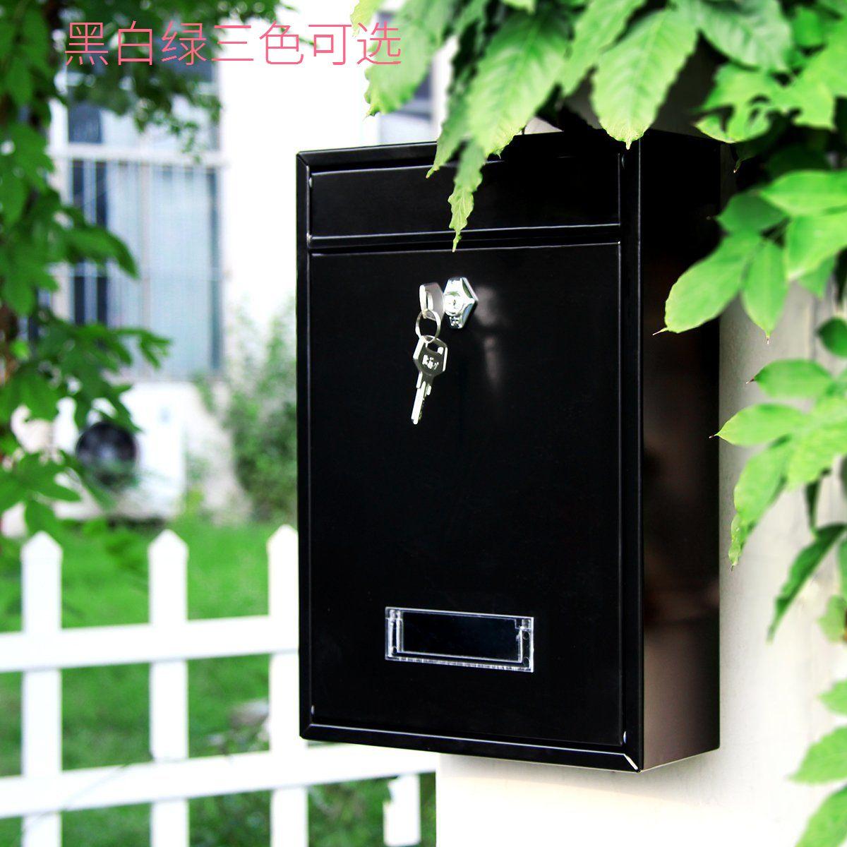 Маленькая почтовая ящик с паролем водонепроницаемый Антикоррозийная коробка с кованым железным почтовым ящиком