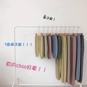 潮妈菲菲亲子裤2019夏装新款防蚊裤