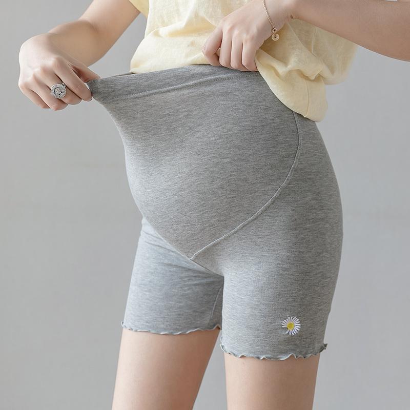 现货实拍孕妇裤子夏薄款三分打底安全裤托腹纯棉防走光时尚短裤