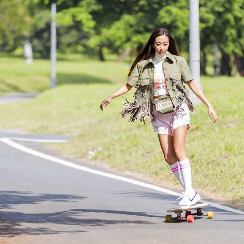 战翼高端长板公路板舞板玩平花刷街dancing瀑布鬼鸟樱花系列滑板