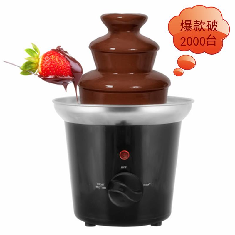 Товар в наличии DIY трехслойная нержавеющая сталь мини-нагреватель шоколадный фонтан DIY hot pot waterfall machine home
