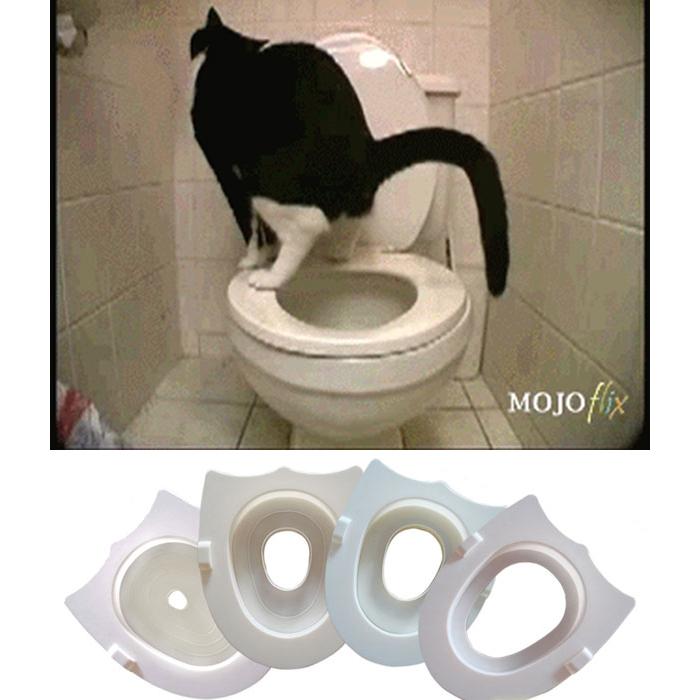 爱可瑞 猫咪马桶 訓練器 猫厕所如厕训练器代替猫砂盆 包邮