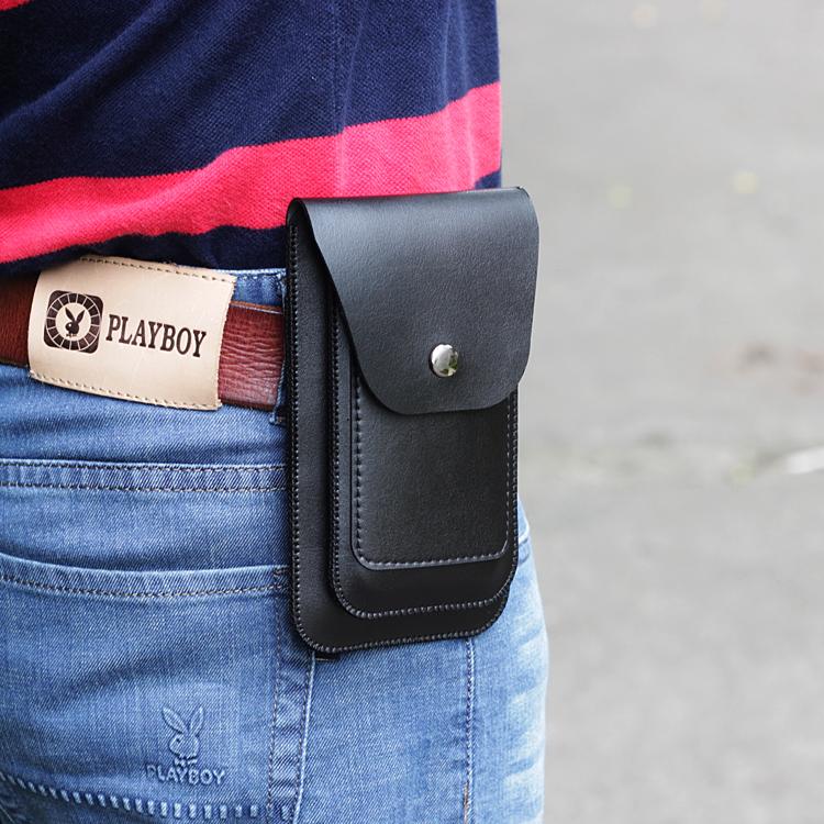 男士穿皮带腰包4.7/5.5 6.2 6.5 6.7寸手机袋竖款双手机包套 超薄