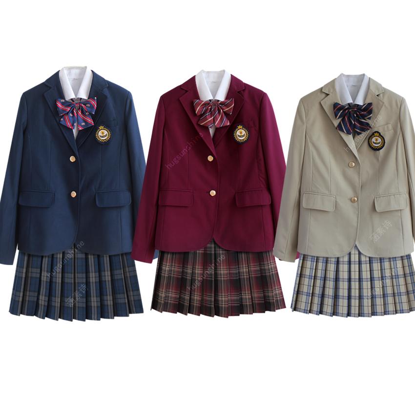 jk全套西装校服套装学院风少女