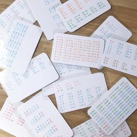 小语种 日语五十音图口袋挂图卡片 过塑防水耐用 化学元素周期表