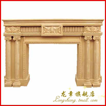 Hotel Clubhouse Villa Decorative fireplace imitation natural stone sandstone embossed fireplace Roman decorated Roman fireplace
