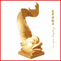 Shanghai Dragon Chapter Chinese sculpture Garden fish Pond sculpture Decoration sandstone round carving fish decoration-water spray fish