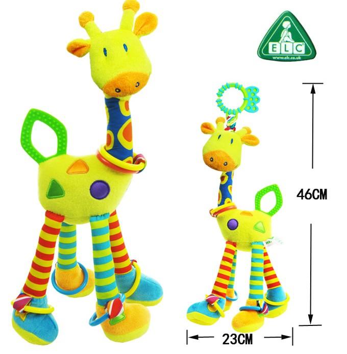 Специальные оленей многофункциональный головоломки токарный ELC длинные ноги повесить прорезыватель-погремушка 0 игрушки
