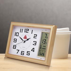 三五牌摆钟桌面摆台式钟表座钟客厅小时钟摆件静音简约闹钟万年历