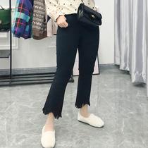 大码女装喇叭裤胖MM秋季高腰弹力200斤显瘦适合跨大腿粗的裤子160