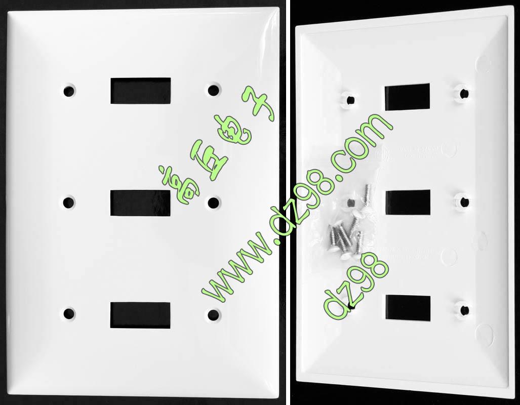 原装出口 115x164 白色 3位 3开 墙壁 开关 面板 家装面板 美标