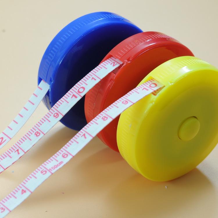 量衣软尺 卷尺 自动伸缩型尺子塑料卷尺市寸英寸皮尺礼品尺包邮