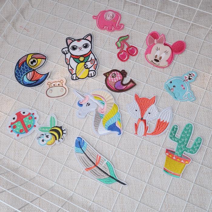 儿童男童女童宝宝可熨烫可爱卡通刺绣补丁贴布贴绣布贴装饰贴