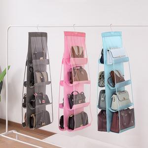 悬挂式包包收纳挂袋衣柜双面收纳袋宿舍家用包包收纳整理打理神器