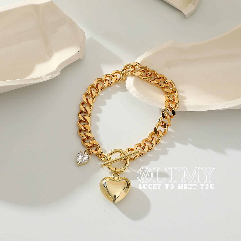 Ltmy new design fashion gold-plated bracelet Love Pendant zirconia charm bracelet bracelet bracelet