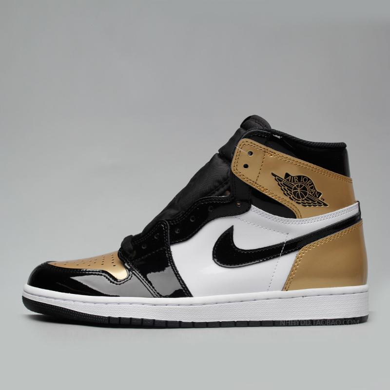 牛哄哄 Air Jordan 1 Gold Toe AJ1 黑白金 黑金脚趾 861428-007