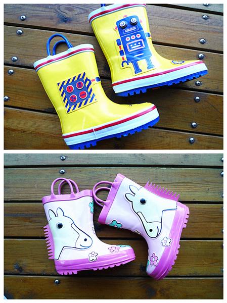 Экспортных заказов трехмерный мультфильм детской моды дождя сапоги ботинки сапоги мальчиков дождя сапоги