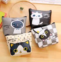 创意可爱卡通小猫咪PU材质零钱包收纳钥匙包学生女硬钱包零钱袋