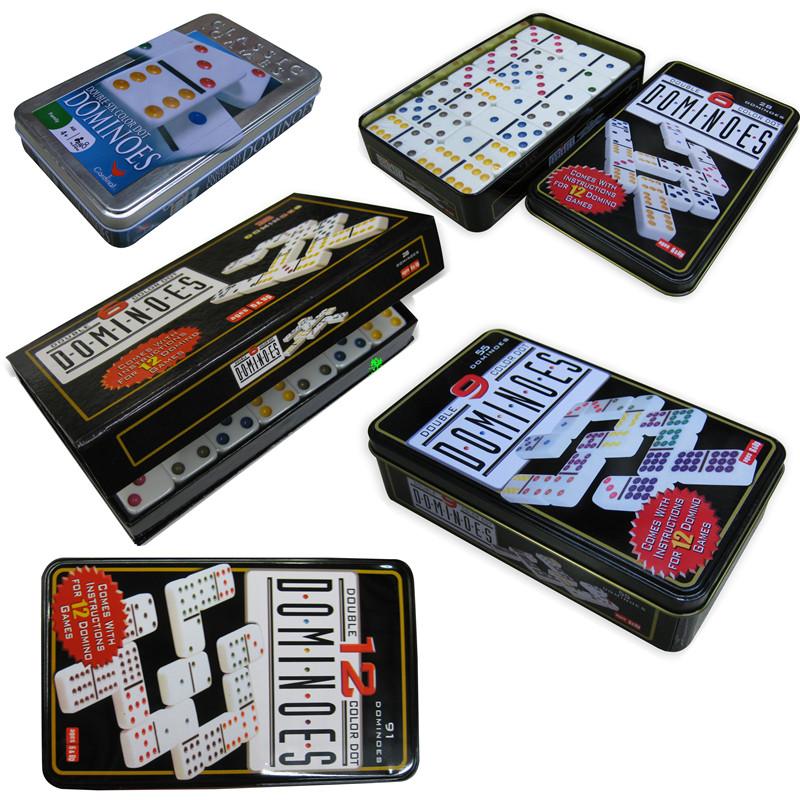 Олово кассета двойной шесть \6 двойной девять \9 двойной \12 цветная точка домино кость карты dominos