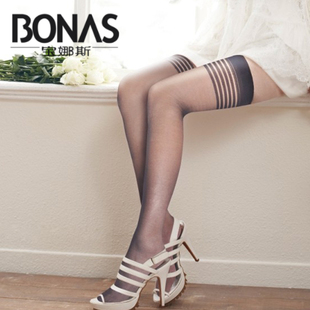 Po Lady Female stockings hold ups stockings Gaotong socks slip spring and summer thin section