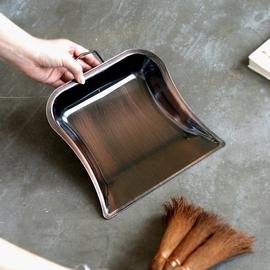 艺之初复古垃圾铲垃圾斗铁簸箕单个挂环桌面小号垃圾铲子家用撮箕