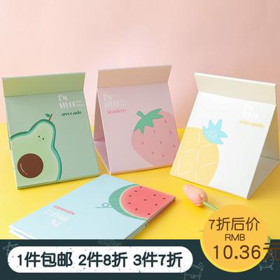 包邮韩国台式公主化妆镜折叠镜子卡通宿舍纸镜随身梳妆镜HQ652