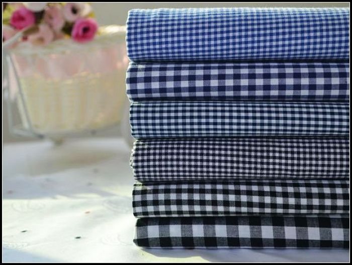 Синий черный и Белый хлопок Детские Плэйд хлопок рубашки для мужчин и женщин рука DIY ткань