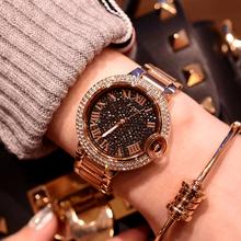 经典大气时尚手表女镶钻奢华水钻防水女士手表钢带表休闲国产腕表