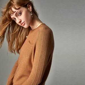 小虫 x Meike 高端针织系列 羊毛羊绒 基础圆领套头衫