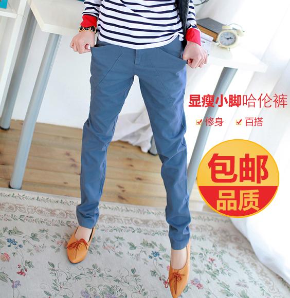 Осень новый loose женский Корейский волна тонкий плюс размер гарем брюки ноги брюки старинные морковь Брюки хлопка случайных брюки